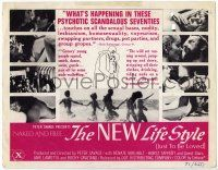 3h053 NEW LIFE STYLE TC '71 wacky German sex movie, with Jake LaMotta & Rocky Graziano added in!