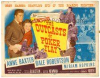 3h056 OUTCASTS OF POKER FLAT TC '52 Anne Baxter, Dale Robertson & Hopkins in Bret Harte story!