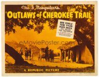 3h057 OUTLAWS OF CHEROKEE TRAIL TC '41 The 3 Mesquiteers, Bob Steele, Tom Tyler & Rufe Davis!