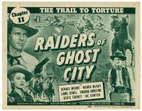 3h063 RAIDERS OF GHOST CITY chapter 11 TC '44 Universal cowboy serial, The Trail to Torture!