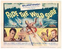 3h070 RIDE THE WILD SURF TC '64 Fabian, ultimate poster for surfers to display on their wall!