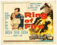 3h072 RING OF FIRE TC '61 it closes on David Janssen & Joyce Taylor minute by minute!