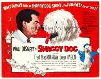 3h076 SHAGGY DOG TC '59 Disney, Fred MacMurray in the funniest sheep dog story ever told!