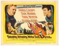 3h077 SHAKE HANDS WITH THE DEVIL TC '59 James Cagney, Don Murray, Dana Wynter, sexy Glynis Johns!