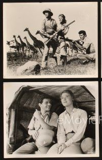 3j014 DRUMS OF AFRICA 26 8x10 stills '63 Frankie Avalon & Mariette Hartley hunting in the jungle!