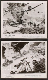 3j044 TORA TORA TORA 18 8x10 stills '70 cool Bob McCall art of the attack on Pearl Harbor!