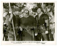 3k011 ADVENTURES OF ROBIN HOOD 8x10 still R48 Errol Flynn laughs at Eugene Pallette & Alan Hale!