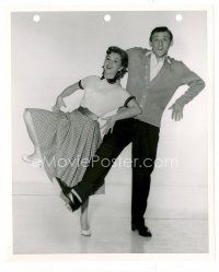 3k013 AFFAIRS OF DOBIE GILLIS 8x10 still '53 Debbie Reynolds & Bobby Van doing the Dobie Hop!