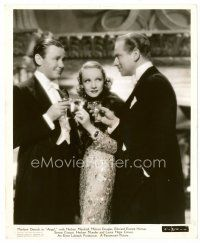 3k033 ANGEL 8x10 still '37 Marlene Dietrich between Herbert Marshall & Melvyn Douglas, Lubitsch!