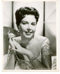 3k038 ANN MILLER 8x10 still '40s wonderful smiling portrait of the sexy actress with cool jewelry!