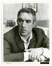 3k047 ANTHONY QUINN 8x10 still '64 head & shoulders c/u looking concerned from The Visit!