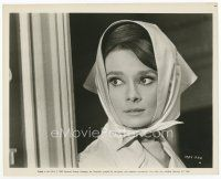 3k054 AUDREY HEPBURN 8x10 still '63 head & shoulders close up of the beautiful star from Charade!