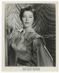 3k055 AVA GARDNER 8x10 still '54 c/u of the beautiful star wearing cape from Barefoot Contessa!