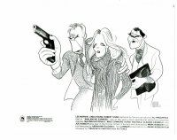 3k056 AVALANCHE EXPRESS 8x10 still '79 art of Lee Marvin, Linda Evans & Shaw by Al Hirschfeld!
