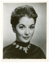 3k062 BARBARA SHELLEY 8x10.25 still '50s head & shoulders portrait of the pretty English actress!