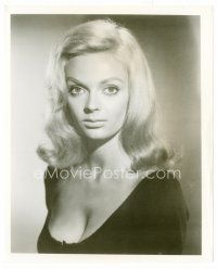 3k065 BARBARA STEELE 8x10 still '60s head & shoulders close up of the sexy English blonde!