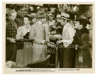 3k066 BAREFOOT MAILMAN 8x10 still '51 Robert Cummings is a slick con man, gun man & ladies' man!
