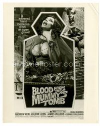 3k076 BLOOD FROM THE MUMMY'S TOMB 8x10 still '72 AIP, great image of the one-sheet!