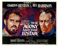 3k014 AGONY & THE ECSTASY color 8x10 still '65 great art of Charlton Heston & Rex Harrison!