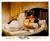 3k049 ARABESQUE color 8x10 still '66 Gregory Peck with sexy Sophia Loren naked in bed!