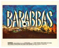 3k058 BARABBAS color 8x10 still #1 '62 directed by Richard Fleischer, cool title artwork!