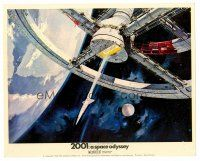 3k005 2001: A SPACE ODYSSEY Cinerama English FOH LC '68 Kubrick, art of space wheel by Bob McCall!