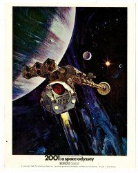 3k004 2001: A SPACE ODYSSEY Cinerama English FOH LC '68 Kubrick, art of pod in space by Bob McCall!