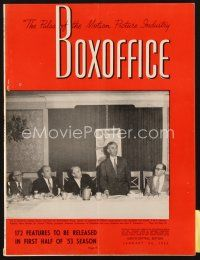 3r068 BOX OFFICE exhibitor magazine January 24, 1953 Salome, I Confess, The Bad & The Beautiful!