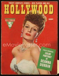 3r104 HOLLYWOOD magazine August 1942 great close portrait of sexy glamorous Rita Hayworth!