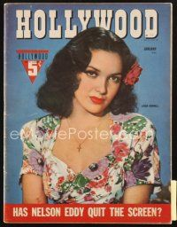 3r109 HOLLYWOOD magazine January 1943 great portrait of sexy Linda Darnell!