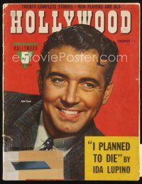 3r107 HOLLYWOOD magazine November 1942 head & shoulders smiling portrait of John Payne!