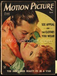 3r094 MOTION PICTURE magazine April 1934 art of Katharine Hepburn & Robert Young by Dan Osher!