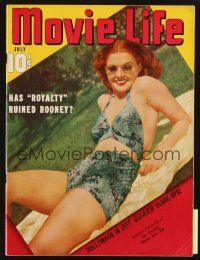 3r111 MOVIE LIFE magazine July 1940 full-length sexy Ann Sheridan in swimsuit & sunglasses!