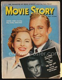 3r112 MOVIE STORY magazine April 1950 Crosby & Gray in Riding High, Montgomery Clift