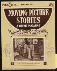 3r073 MOVING PICTURE STORIES magazine May 16, 1913 great image from Sons of a Soldier!