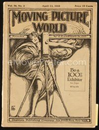 3r064 MOVING PICTURE WORLD exhibitor magazine April 13, 1918 Tarzan of the Apes, two Chaplin ads!