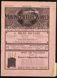 3r054 MOVING PICTURE WORLD exhibitor magazine April 30, 1910 poster & theater images + more!