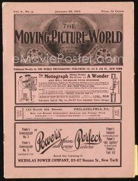 3r052 MOVING PICTURE WORLD exhibitor magazine January 29, 1910 filled with hundred year-old ads!
