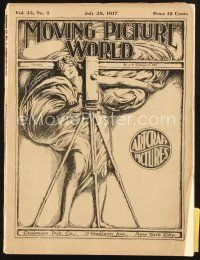 3r063 MOVING PICTURE WORLD exhibitor magazine July 28, 1917 Sessue Hayakawa, Nazimova & more!