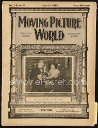 3r059 MOVING PICTURE WORLD exhibitor magazine June 12, 1915 cool pictures of super early theaters!