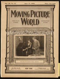 3r061 MOVING PICTURE WORLD exhibitor magazine June 17, 1916 two great Charlie Chaplin ads!