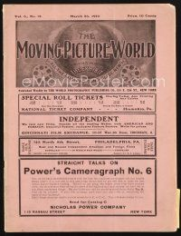 3r053 MOVING PICTURE WORLD exhibitor magazine March 26, 1910 filled with hundred year-old ads!