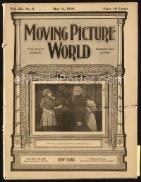 3r060 MOVING PICTURE WORLD exhibitor magazine May 6, 1916 Davy Crockett, Sherlock Holmes, Barrymore