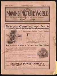 3r055 MOVING PICTURE WORLD exhibitor magazine November 19, 1910 cool story knocking posters +more!