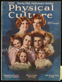 3r114 PHYSICAL CULTURE magazine November 1923 Macfadden family by Sielke, Why Fat People Die Young