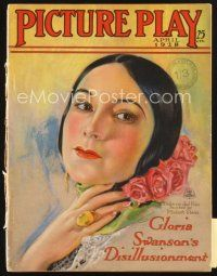 3r080 PICTURE PLAY magazine April 1928 great art of Dolores Del Rio by Modest Stein!