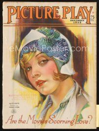 3r085 PICTURE PLAY magazine December 1928 great artwork of Alice White by Modest Stein!