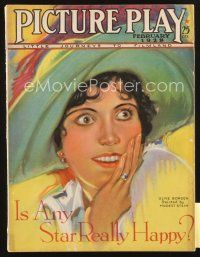 3r078 PICTURE PLAY magazine February 1928 great art portrait of Olive Borden by Modest Stein!