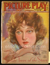 3r077 PICTURE PLAY magazine January 1928 artwork of sad Corinne Griffith by Modest Stein!