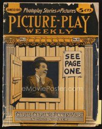 3r076 PICTURE PLAY magazine June 12, 1915 Charlie Chaplin's funniest story, great image!